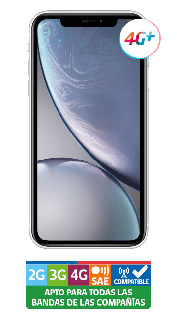 iPhone XR Blanco vista frontal
