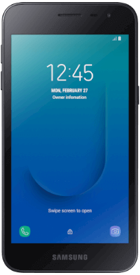 Samsung Galaxy J2 Core Negro vista frontal