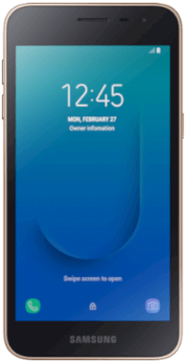 Samsung Galaxy J2 Core Gold vista frontal