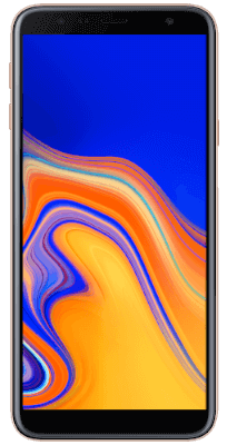Samsung Galaxy J4 Plus Gold vista frontal