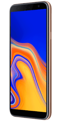 Samsung Galaxy J4 Plus Gold vista lateral