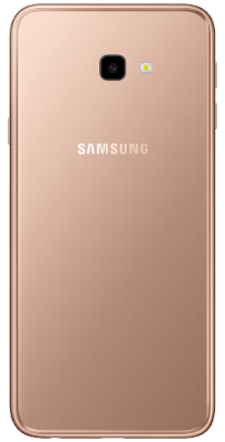 Samsung Galaxy J4 Plus Gold vista posterior