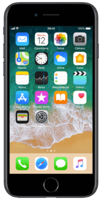 iPhone 7 32 GB Negro vista frontal