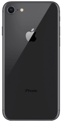 iPhone 8 64 GB Negro vista posterior