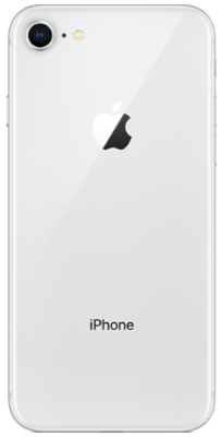iPhone 8 64 GB Silver vista posterior