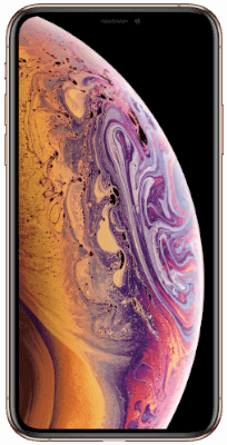 iPhone XS Gold vista frontal
