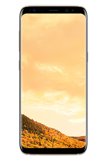 Samsung Galaxy S8 Gold vista frontal